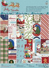 Papermania 48 pk Christmas Decoupage & scrapbooking paper A4 160gm Jolly Santa