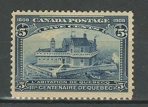 Canada 1908  5c blue ☀ MLH stamp