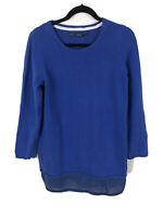 Gudrun Sjoden  Size Small Blue Lagenlook Organic Cotton Jumper Top 40 Chest
