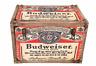 Budweiser Bud Beer Metal Strap Storage Chest Trunk Retro Vintage Large Tool Box