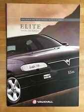 Vauxhall Elite brochure 1996 - saloon, estate