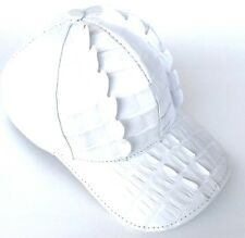 ALLIGATOR HAT WHITE,FULL LINING SNAPBACK,ADJUSTABLE(1)SIZE FITS ALL UNI-SEX=2626