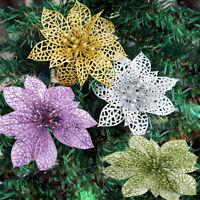 """2x 6  """"Christmas fleurs Noël arbre décor paillettes partie de mariage cr Jh ITHW"""