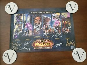 """Blizzcon 2014 """"Voices of Draenor"""" Blizzard Warcraft Signed Rare Poster"""