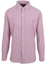 "Ralph Lauren Polo Uomo Camicia Manica Lunga Men's shirt 2xl XXL 45 18"" Slim Fit Oxford"