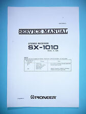Service Manual-Instructions pour pioneer sx-1010