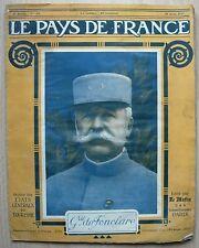 Le Pays de France n°150 30 août 1917 Général de Fonclare