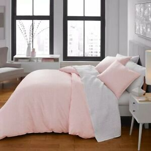 Threshold Light Pink Blush Chambray Full/Queen Duvet Cover with Shams