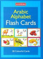 Arabic Alphabets English Pronunciation Flash Cards Learn Children Kids Colorful