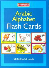 Arabic Alphabets English Pronunciation Flash Cards Learn Children Kids Colorful