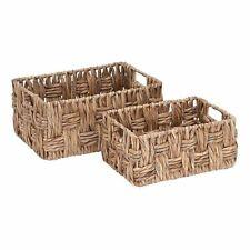Rectangular Wicker Storage Basket Set