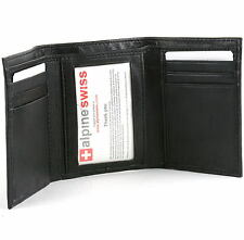 Alpine Swiss Men's Deluxe Trifold Leather Hi Quality Brand New Wallet.