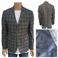 "ASOS Slim Fit Grey Prince Of Wales Blazer Size 42"" Long Sleeve Two Button Blazer"