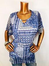 JM Collection 1X Top Stretch Floral Geometric Keyhole Blouse Shirt Crochet