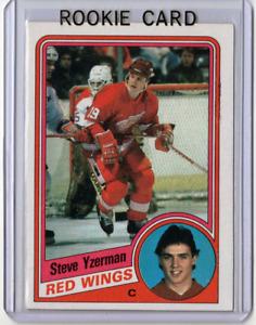 🔥 STEVE YZERMAN 84/85 Topps Rookie Card #49 Detroit Red Wings Beauty *Mint* 🔥