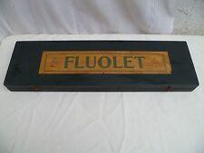 Ancien coffret en bois de rangements 33 cassiers marque déposé FLUOLET