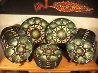 Céramique Vintage 60 Rare Service à Huitres Saint-Jean de Bretagne 20 Pièces