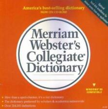 Merriam-Webster's Collegiate Dictionary Deluxe PC CD word definitions reference