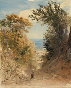 Samuel Palmer View from Rook's Hill Giclee Art Paper Print Poster Reproduction