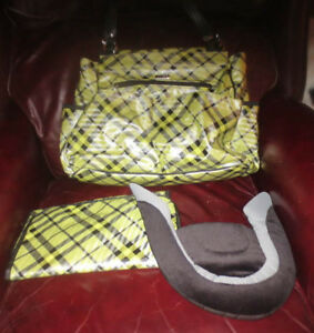 Miche Delilah Baby Diaper Bag/ Shoulder bag with Changing Pad & Head Rest