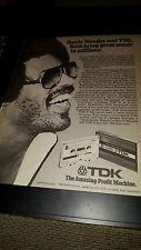 Stevie Wonder Rare Original TDK Tapes Promo Poster Ad Framed!