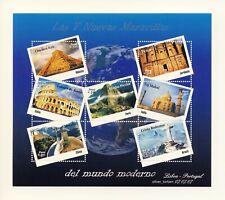 PERU Block 50 ** Die 7 neuen Weltwunder MACHU PICCHU Chinesische Mauer Taj Mahal