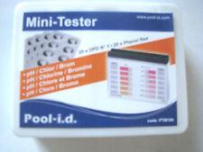 Pooltester Mini-Tester + 40 Testtabletten zur Messsung von Chlor/PH Wassertester