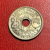 #3819 - RARE -  25 centimes 1939 Lindauer SPL/FDC sortie de rouleau - FACTURE