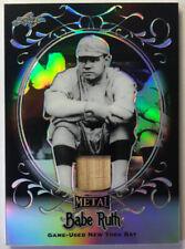 Babe Ruth 2019 Leaf Metal Bat Relic 3/5 1/1 Game Used Chrome Refractor Black
