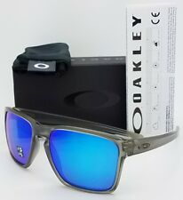 NEW Oakley Sliver XL Sunglasses Grey Sapphire Polarized Blue AUTHENTIC 9341-03