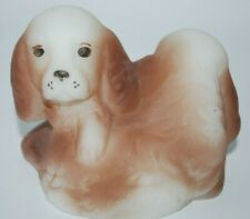 Fenton Glass Handpainted Natural Series #5159Sp Brown Spaniel Opal Satin Dogs