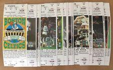 VINTAGE 1994-1995 NBA BOSTON CELTICS SEASON FULL TICKETS - LAST YEAR AT GARDEN