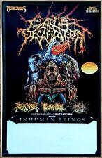 CATTLE DECAPITATION | REVOCATION 2017 Ltd Ed RARE Tour Poster +FREE Metal Poster