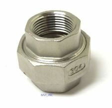 "UNION 150# 304 STAINLESS STEEL 1-1/2"" NPT FITTING BREWING PIPE FITTING <753WH"