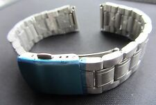 18mm Stainless Steel Oyster Watch Bracelet Strap Safety Clasp Straigh Ends BNWOT