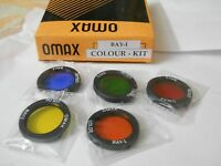 ROLLEI BAYI BAJONET I BAY 1 COLOR FILTER (5) KIT FOR ROLLEIFLEX TLRs  New rare