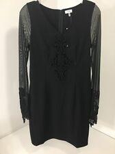 Women's TOBI After Dark Mesh Bodycon Dress Long sleeve Black Size Medium NWT