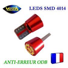 1 Ampoule W5W T10 6 leds 4014 SMD spécial courte blanc xénon anti-erreur ODB 12V