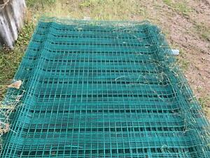v mesh security fencing and posts 3m x 1.4m high £60+vat per panel
