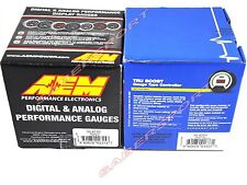 AEM Wideband Air / Fuel UEGO AFR + TRU-BOOST Turbo Gauge (2 Gauges Combo)