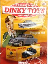 DINKY TOYS PEUGEOT 403 MINIATURE 1:43 FRANCE CAR MODEL DE AGOSTINI ATLAS NEUF