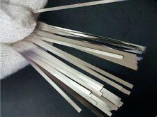 0.15x8x100mm 100pcs Pure Nickel Plate 99.96% Strap Strip Sheet battery welder