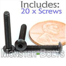 "#4-40 x 3/4"" - Qty 20 - BUTTON HEAD Socket Cap Screws  Alloy Steel Black Oxide"