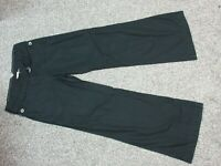 Women's ELEVENSES Anthroplogie Black Adjustable Double Belted Cotton Pants Sz 6