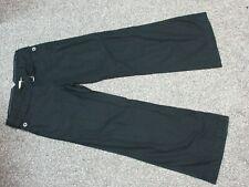 Women's ELEVENSES Anthroplogie Black Adjustable Double Belted Cotton Pants Sz 6