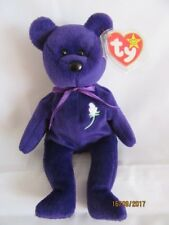 TY BEANIE BABY BEAR PRINCESS - MADE IN INDONESIA - MINT -RETIRED