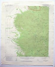 Chiricahua Peak Arizona Vintage USGS Topo Map 1958 Turkey Creek Rucker Canyon