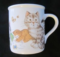 HOUSE CATS Ceramic Coffee Mug - from Current - 1985 Japan Kittens