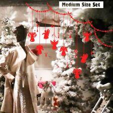 Upto2M Angels Christmas Ball Snowflake Waterproof Huge Sticker Shop Window Decal