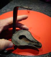 Ancienne rustique petite Lampe à Huile en Tôle à compléter